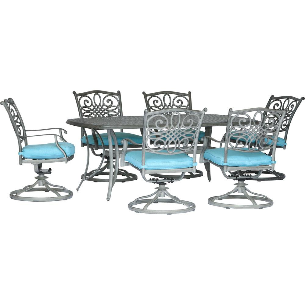 Hanover Traditions 7-Piece Aluminum Outdoor Dining Set ...