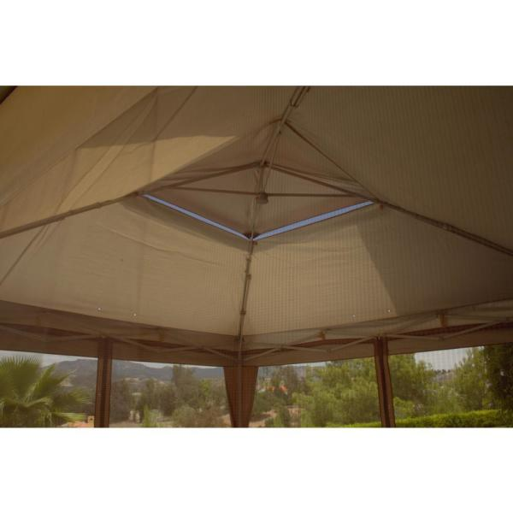 Hampton Bay Stockton 12 Ft X 12 Ft Pop Up Gazebo Instant Canopy Ns Pug 144 300d The Home Depot