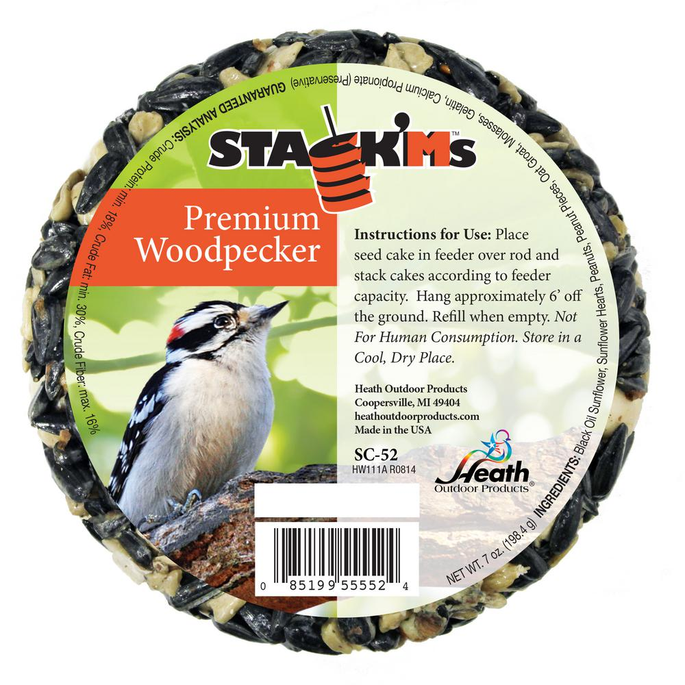 Heath Stack'Ms Seed Cakes - Woodpecker (Case of 6)
