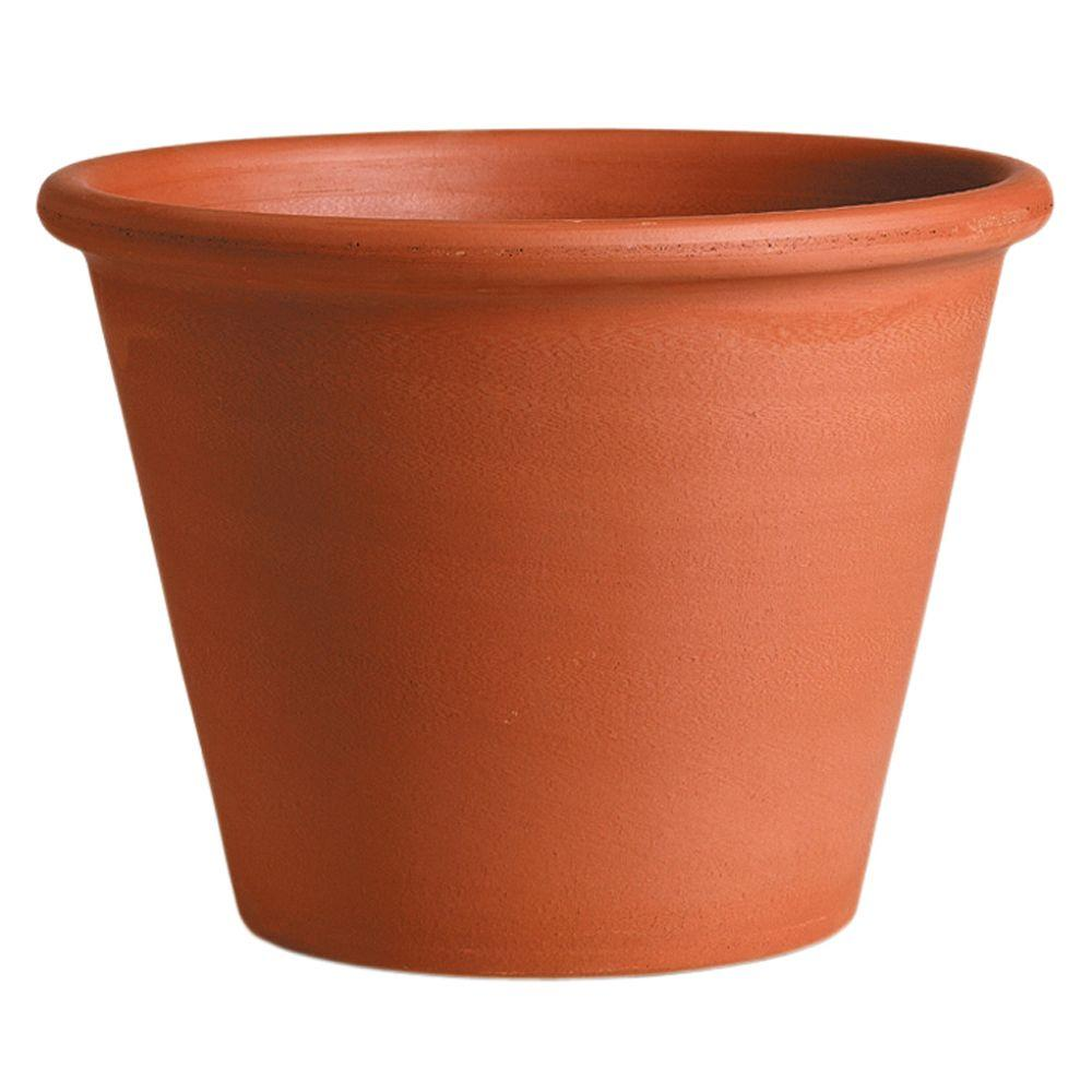 Deroma 8-1/4 in. Round Terra Cotta Clay Vasum Pot-T DR 50-21 - The ...