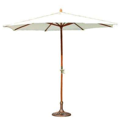 9 ft. Patio Umbrella in White with Stand