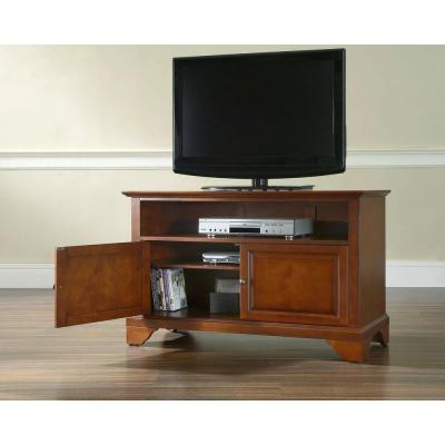 LaFayette 42 in. Cherry Wood TV Stand Fits TVs Up to 44 in. with Storage Doors
