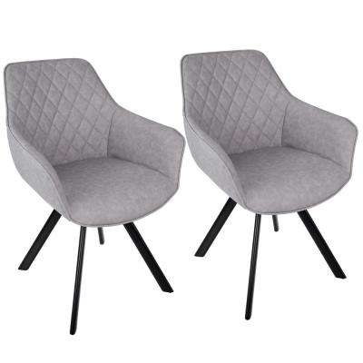 Outlaw Industrial Grey Dining Accent Chair Set Of 2