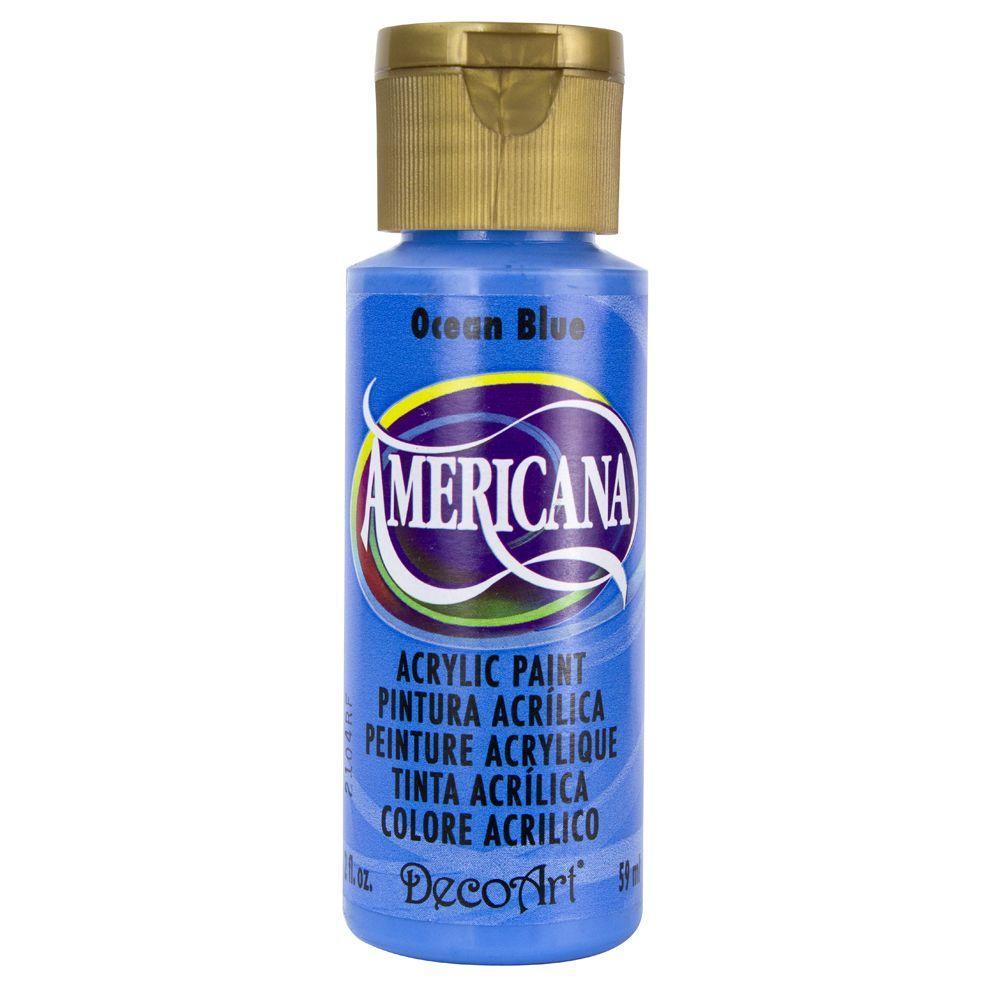Americana 2 oz. Ocean Blue Acrylic Paint