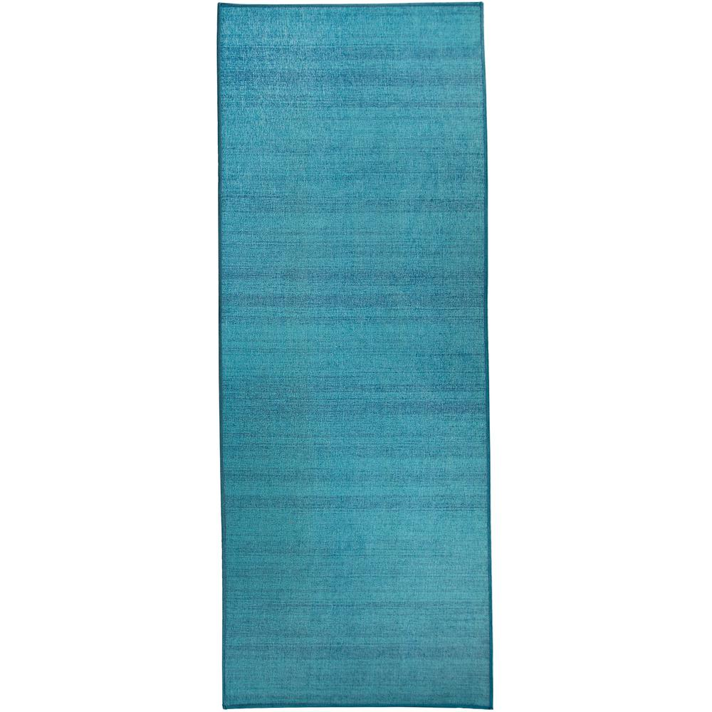 Ruggable Washable Solid Textured Ocean Blue 2 5 Ft X 7 Ft