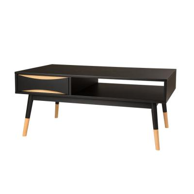 Black Drawers Coffee Tables Accent The Home Depot