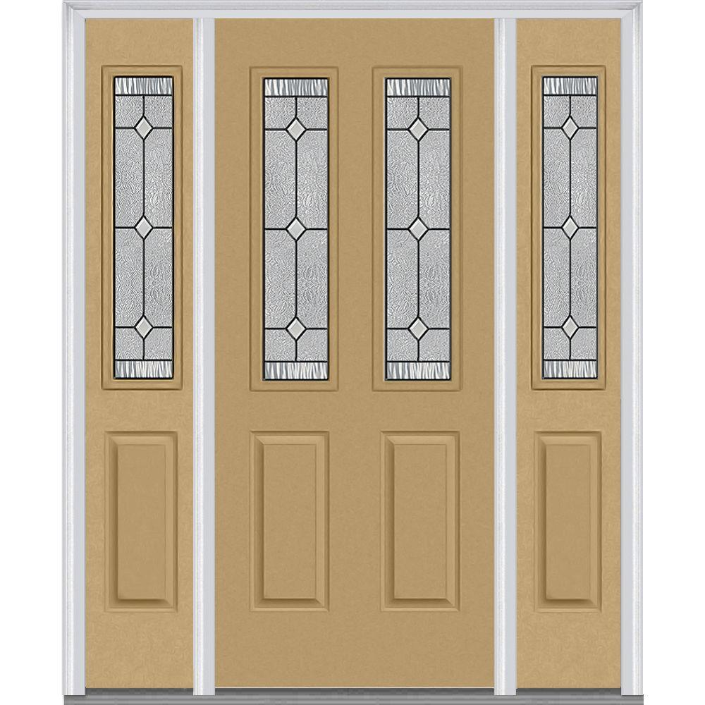 Mmi door 64 in x 80 in carrollton right hand 2 1 2 lite 2 panel classic painted steel prehung - Painting a steel exterior door model ...