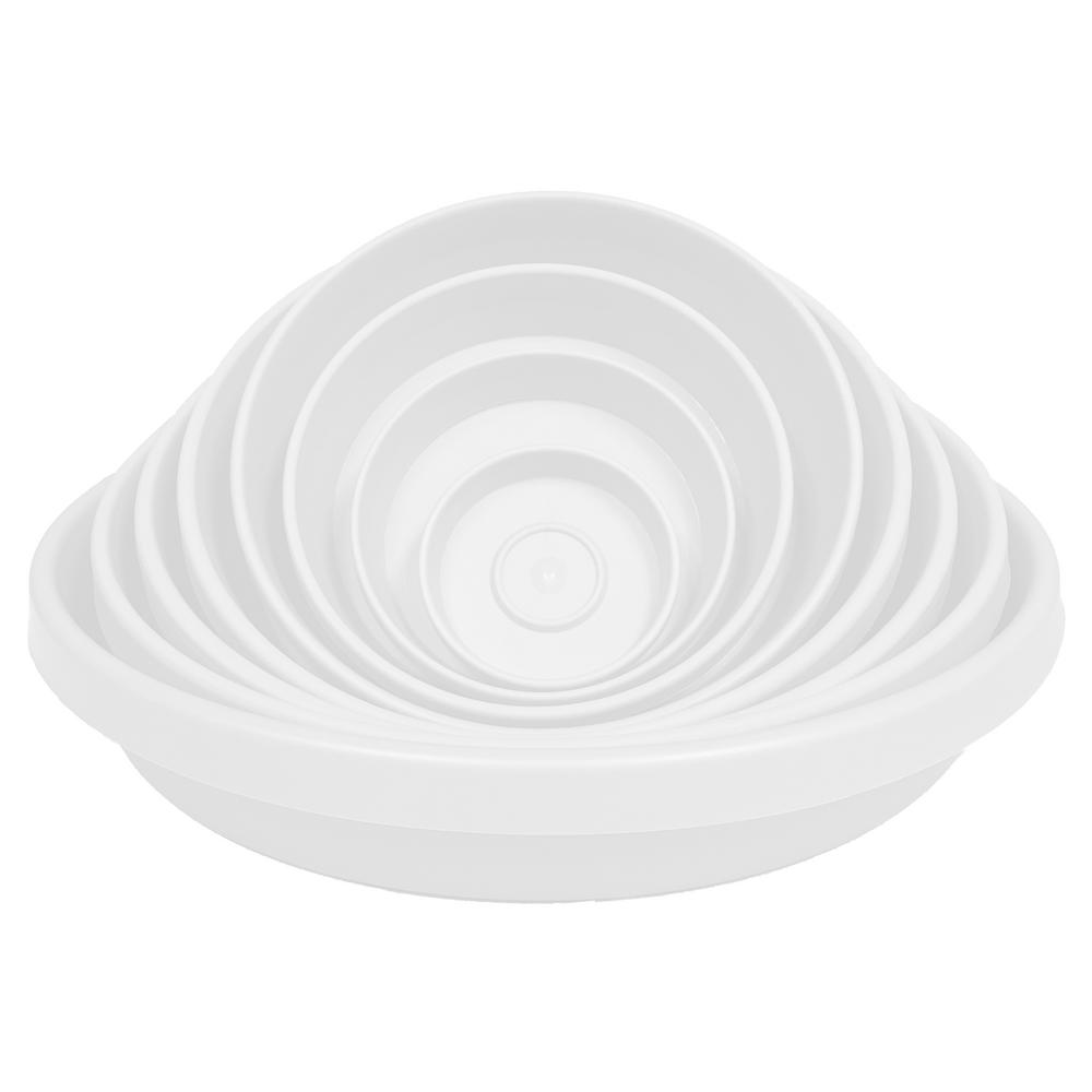 Terra 20 in. Plant Saucer Tray in Taupe