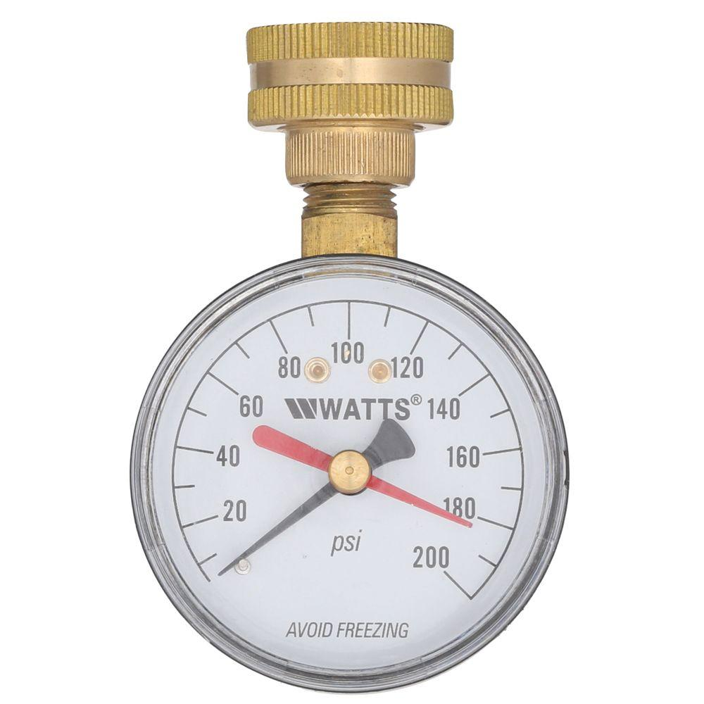 3 4 In Plastic Water Pressure Test Gauge Dp Iwtg The