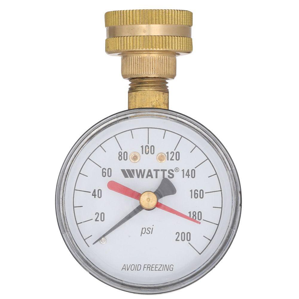 3/4 in. Plastic Water Pressure Test Gauge