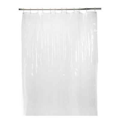 70 in. x 72 in. Sanitized in 10-Gauge Peva Shower Liner Super Clear