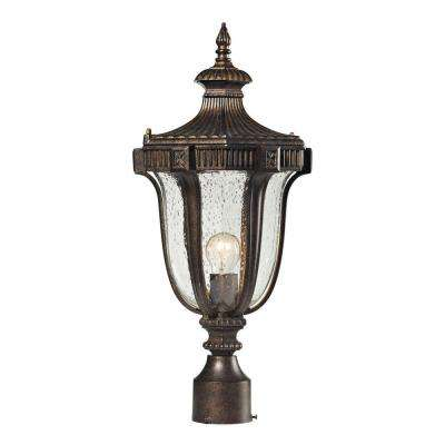 Sturgess Castle 1-Light Outdoor Regal Bronze Post Light