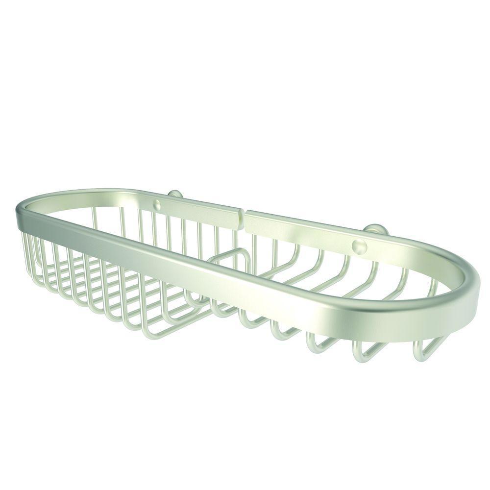 Splashables 11 in. Combo Basket in Satin Nickel