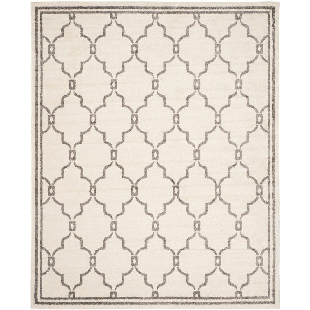 Amherst Ivory/Gray 9 ft. x 12 ft. Indoor/Outdoor Area Rug