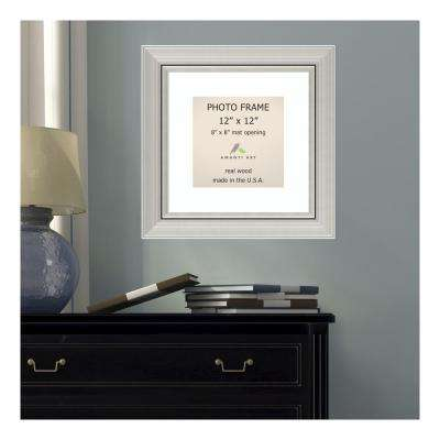Romano 8 in. x 8 in. White Matted Silver Picture Frame