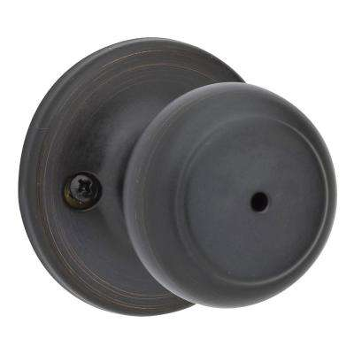 Cove Venetian Bronze Privacy Bed/Bath Door Knob