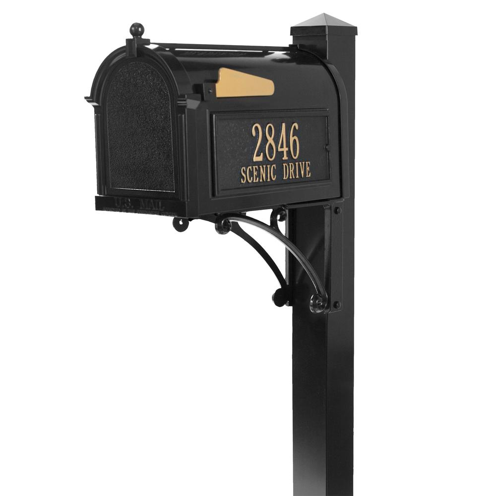 Beau Whitehall Products Superior Black Streetside Mailbox