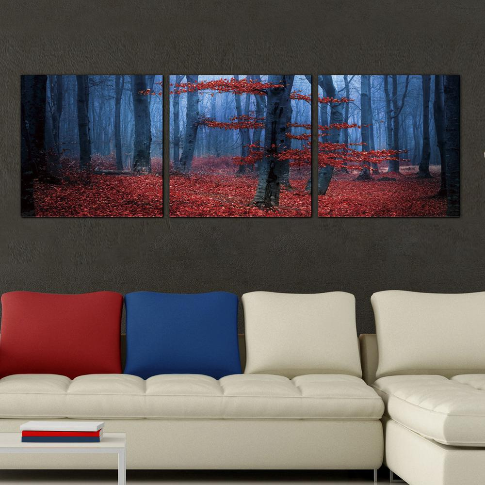 Furinno 16 In X 48 In Quot Enchanted Forest Quot Printed Wall