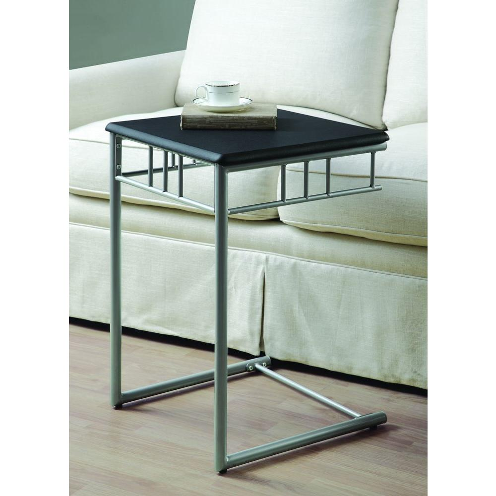 Monarch Specialties Black and Silver End Table