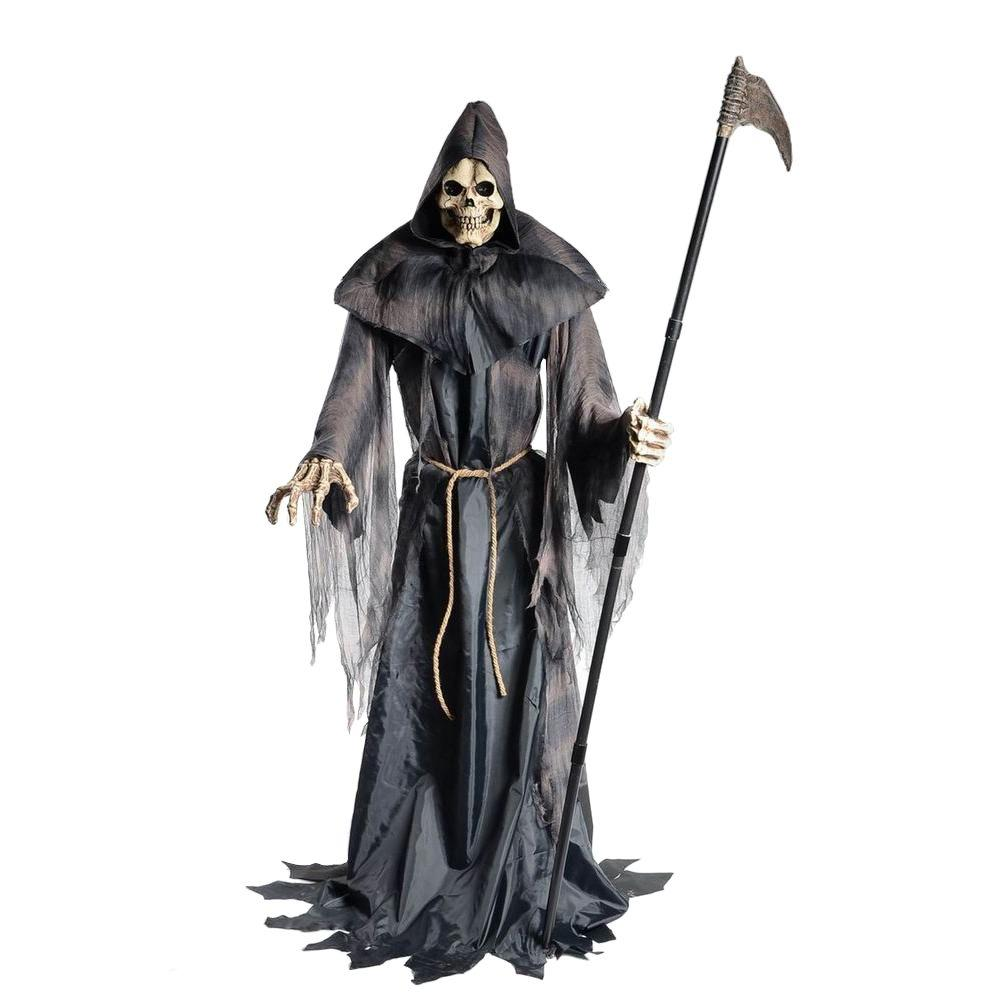 Home accents holiday 6 ft animated lurching reaper for Animated flying reaper decoration