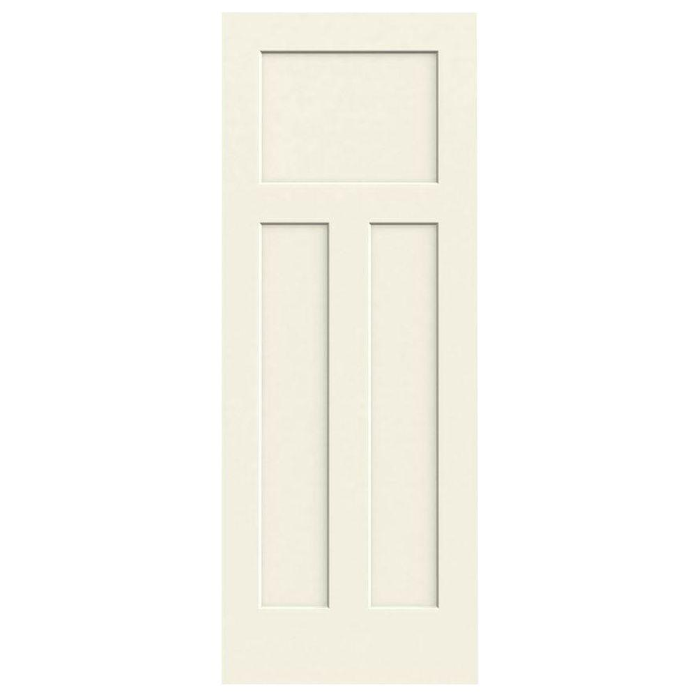 36 in. x 80 in. Craftsman Vanilla Painted Smooth Molded Composite