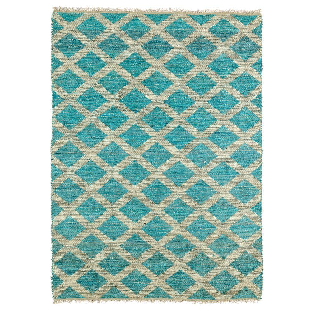 Kaleen Kenwood Teal 5 Ft. X 8 Ft. Double Sided Area Rug