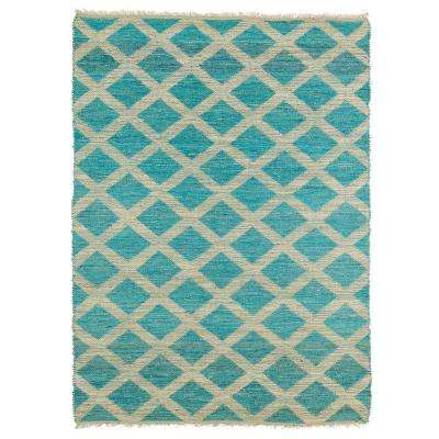 Kenwood Teal 8 ft. x 11 ft. Double Sided Area Rug