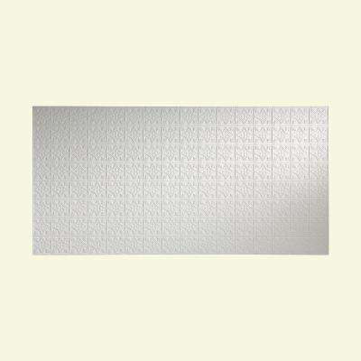 96 in. x 48 in. Traditional 1 Decorative Wall Panel in Matte White