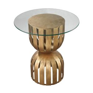 Titan Lighting Olympia Antique Gold Leaf Side Table by Titan Lighting