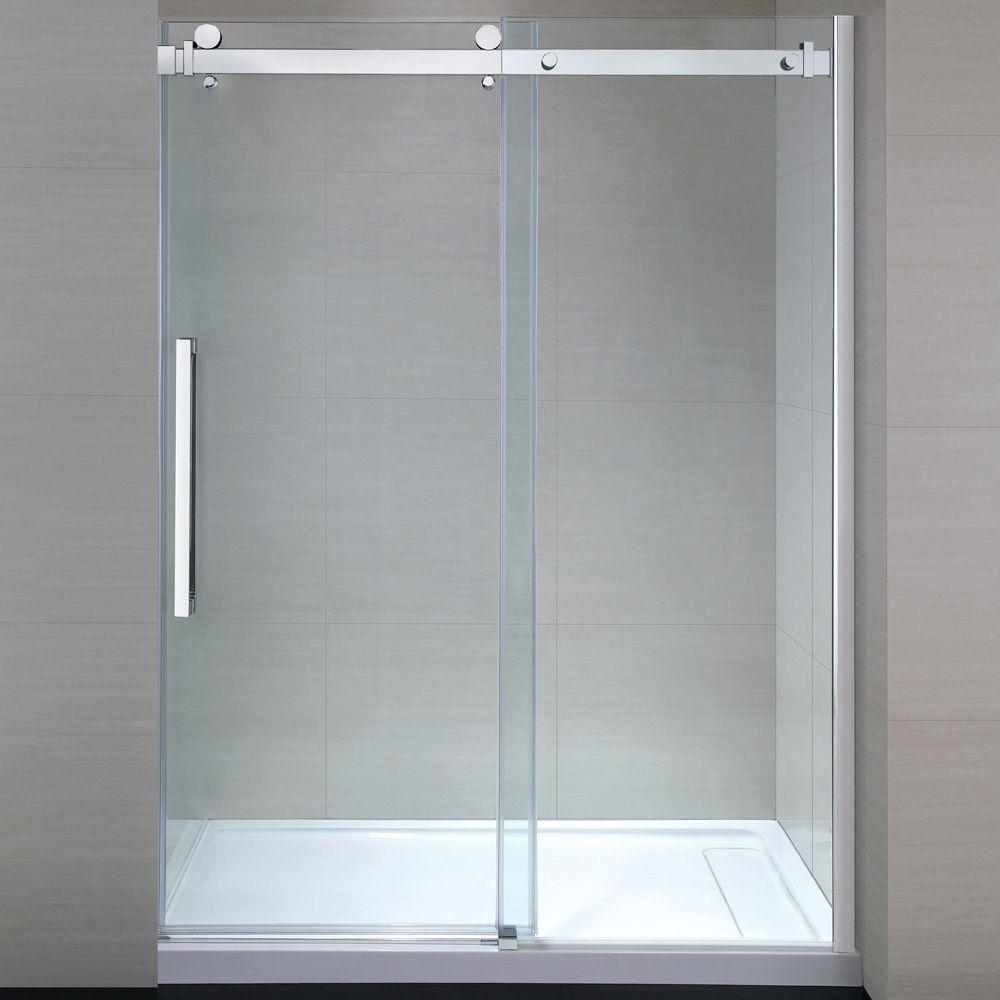 OVE Decors Sierra 60 in. x 81.5 in. Frameless Sliding Shower Door in ...