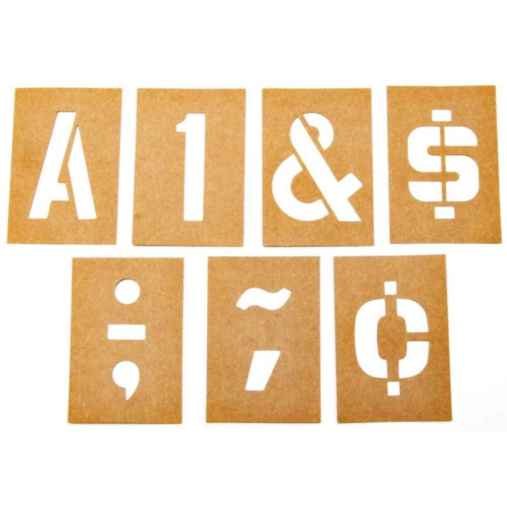 numbers and letters stencil set