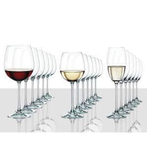 Vivendi 18-Piece Crystal Assorted Wine Glass Set