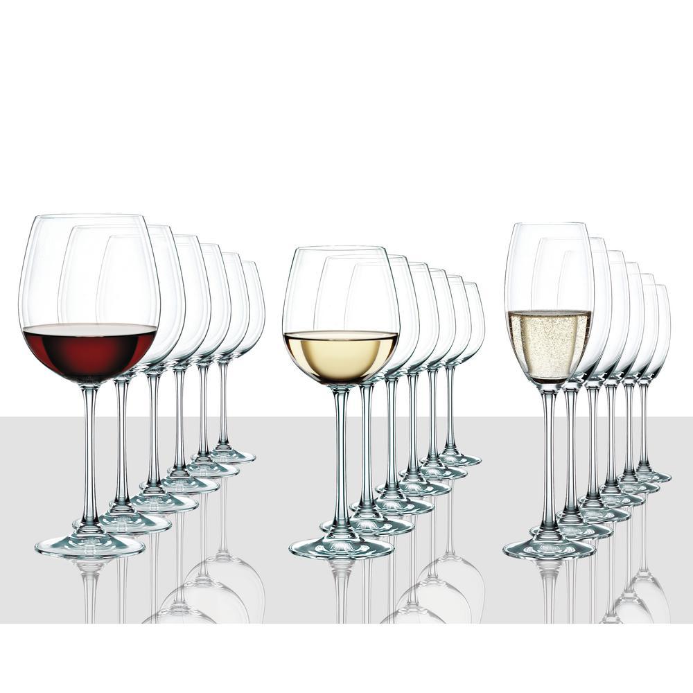 Vivendi 18-Piece Crystal Assorted Wine Glass Set