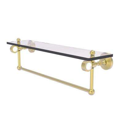 Pacific Grove Collection 22 Inch Glass Shelf with Towel Bar in Satin Brass