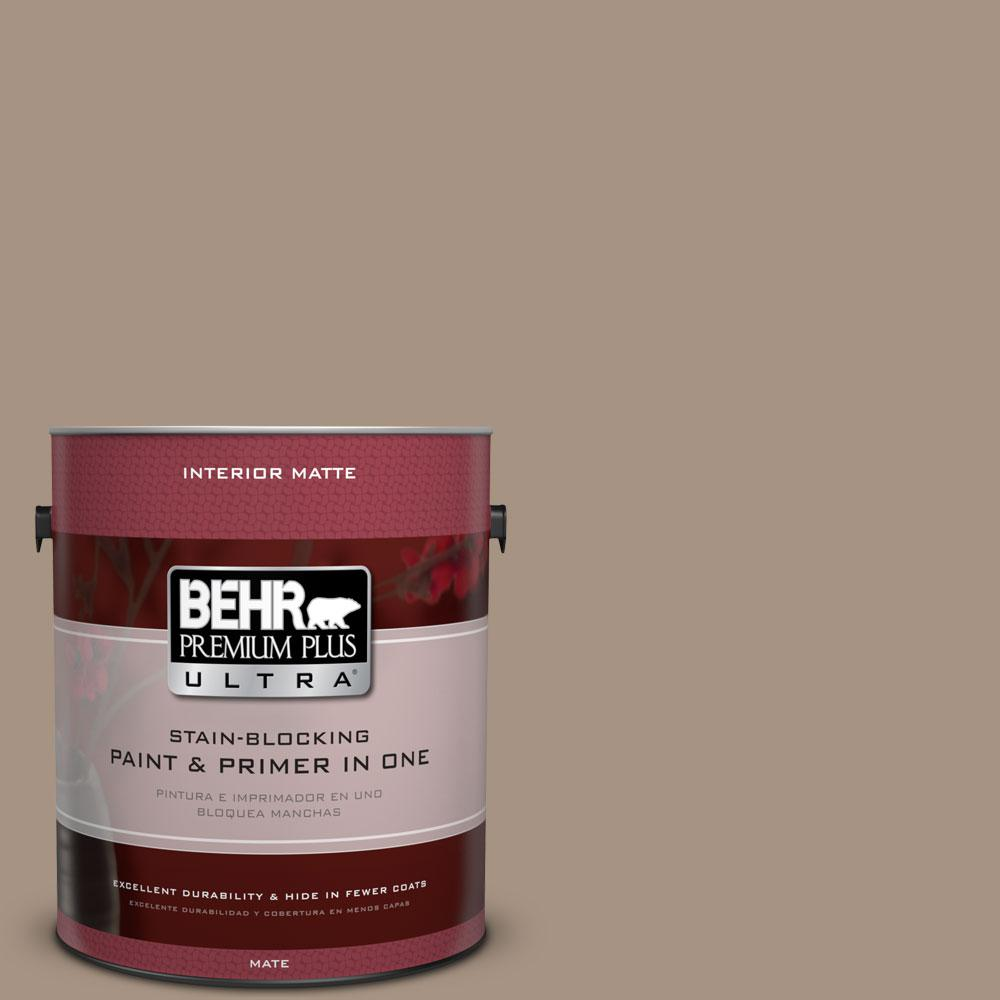 BEHR Premium Plus Ultra 1 gal. #PPU7-5 Pure Earth Matte Interior Paint and Primer in One