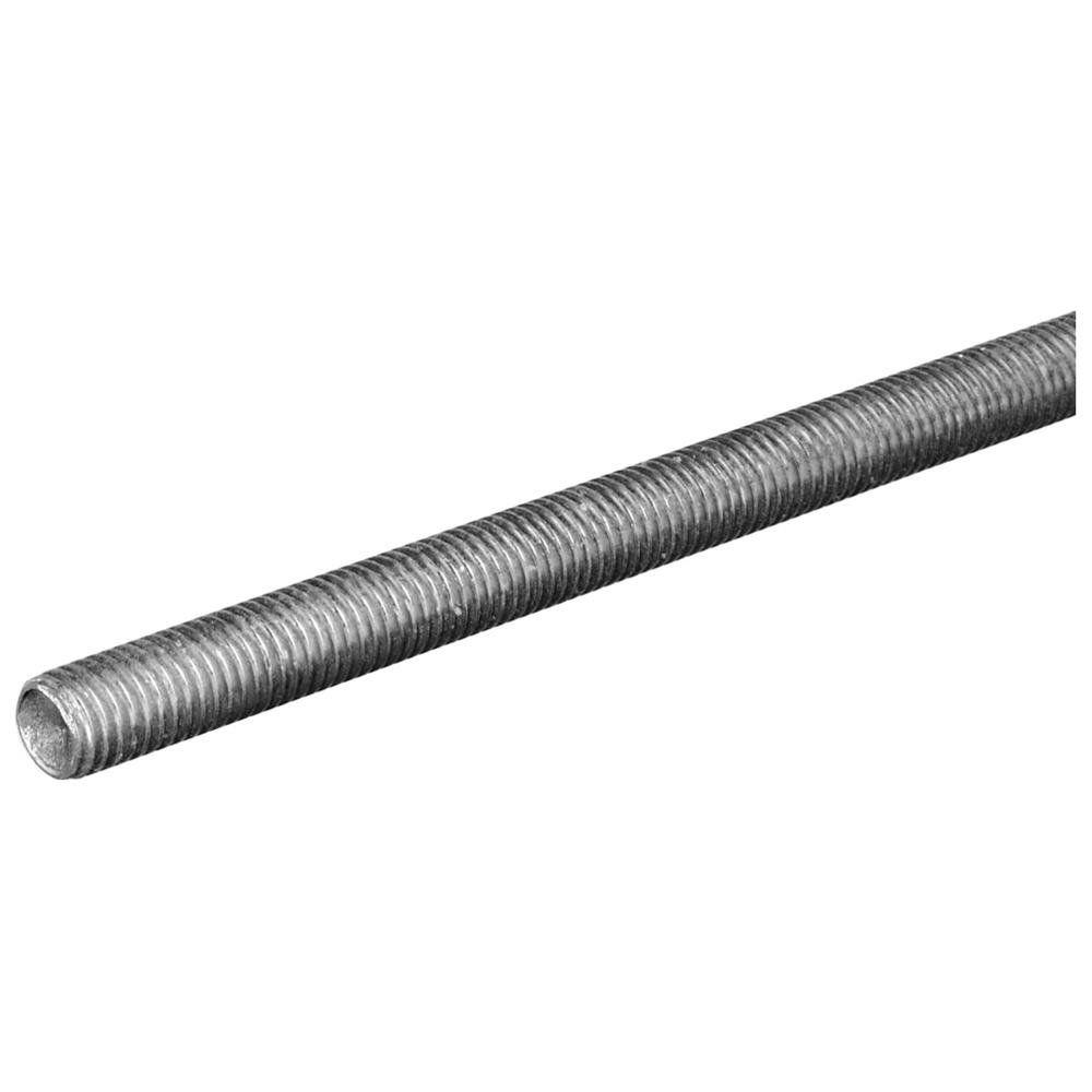 Everbilt 1/4 in. x 12 in. Stainless-Steel Threaded Rod-800777 ...