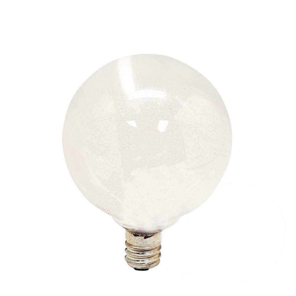 GE 60-Watt Incandescent G16.5 Globe Candelabra Base Soft White Light Bulb (4-Pack)