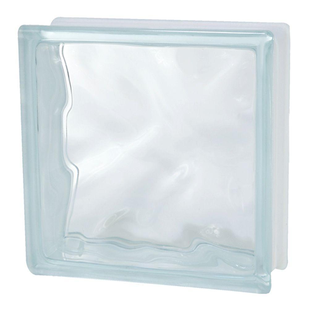 TAFCO WINDOWS 8 in. x 8 in. x 3-1/8 in. Wave Pattern Glass Block 6/CA