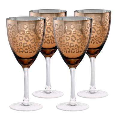 14 oz. Gold Design Wine Glass (Set of 4)