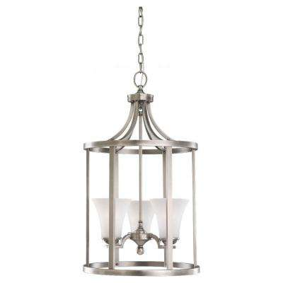 Somerton 3-Light Antique Brushed Nickel Hall-Foyer Pendant