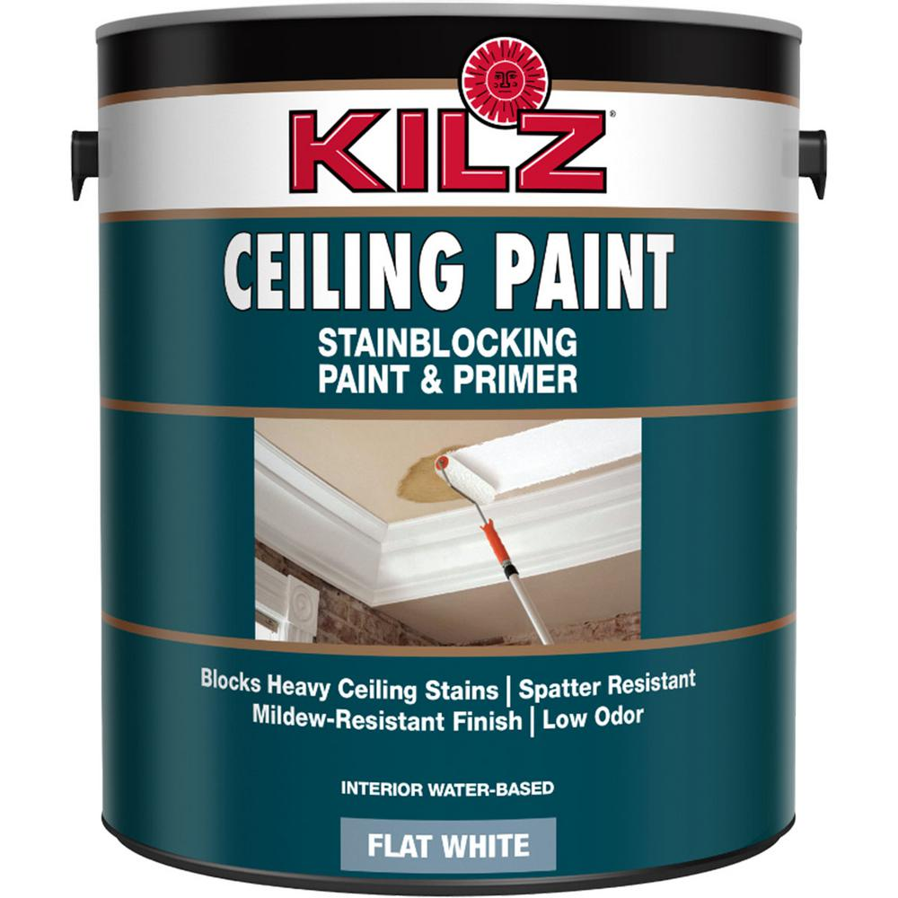 Behr 1 Gal White Flat Interior Ceiling Paint And Primer
