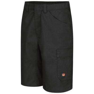 Men's 38 in. x 13 in. Black Shop Short