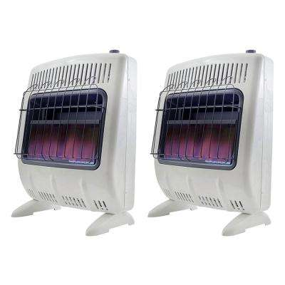 20,000 BTU Vent Free Natural Gas Indoor Outdoor Space Heater (2-Pack)