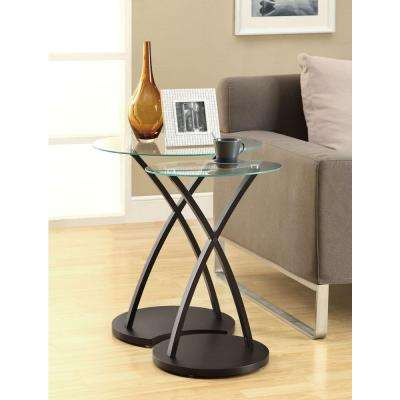 Bentwood Cappuccino 2-Piece Nesting End Table