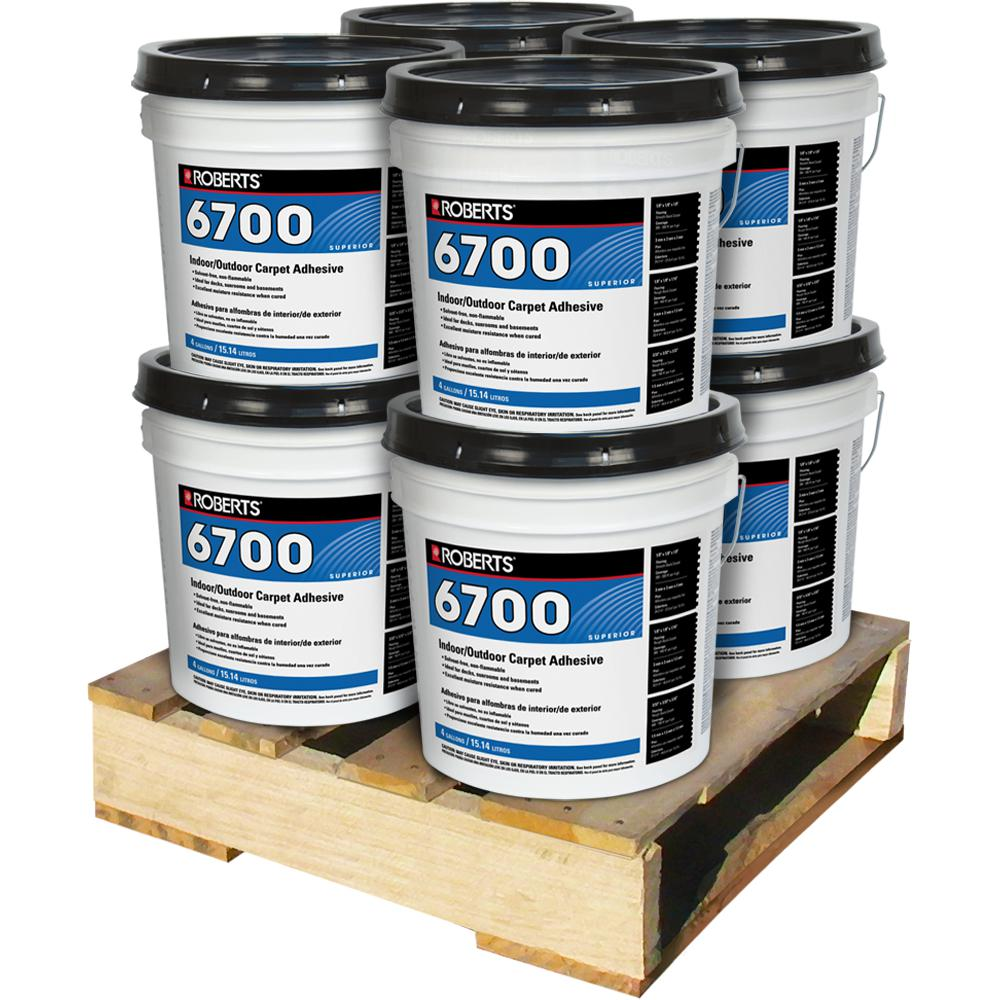 Roberts 4 Gal. Indoor/Outdoor Carpet and Artificial Turf Adhesive (8 Pail Pallet)