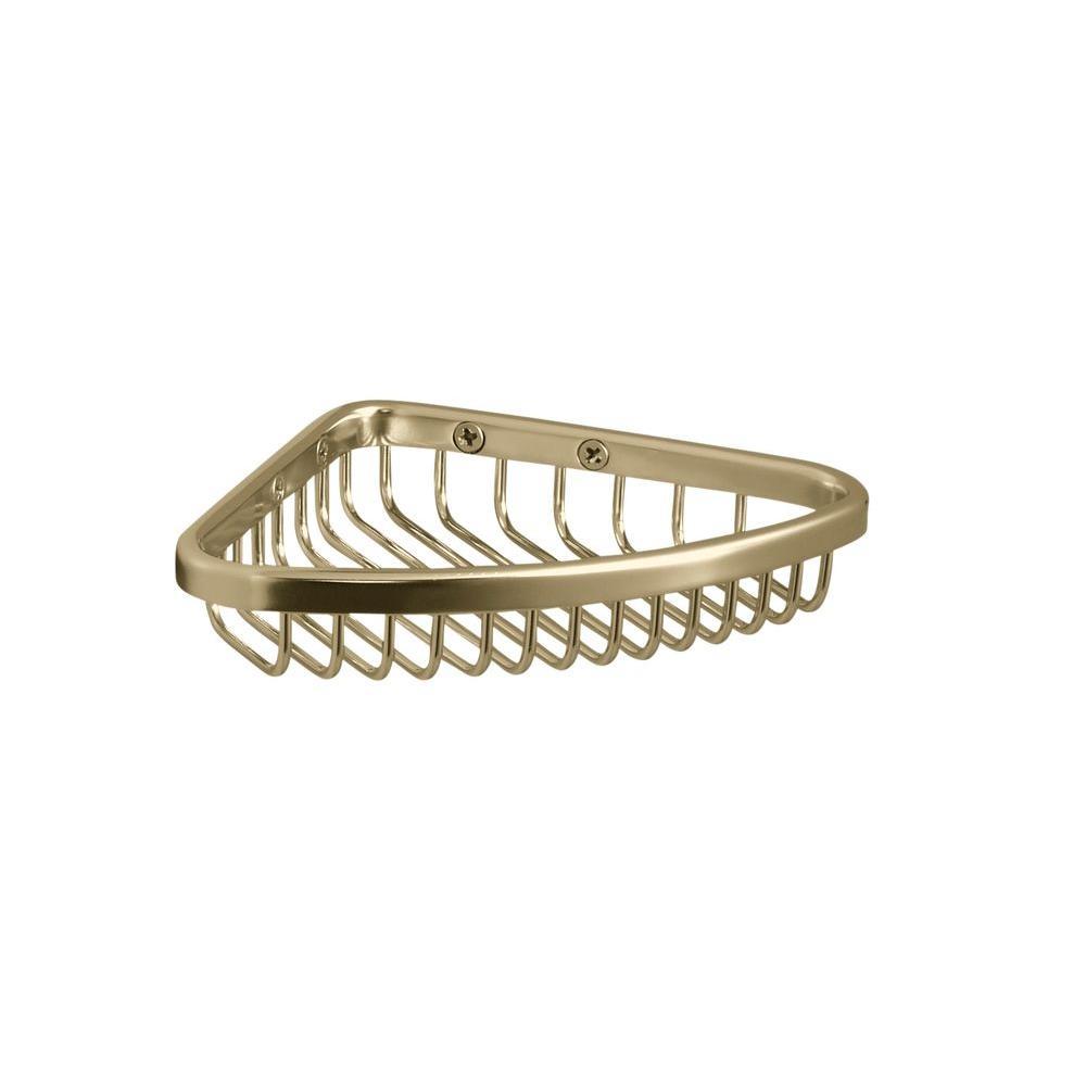 Delightful KOHLER Small Shower Basket In Vibrant French Gold