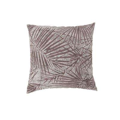 Olive 22 in. Brown Contemporary Standards Throw Pillow (Set of 2)
