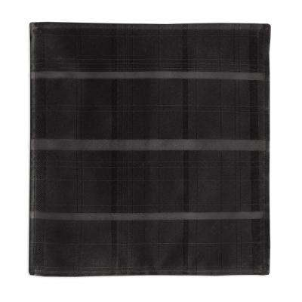 70 in. Round Black Elrene Elegance Plaid Damask Fabric Tablecloth