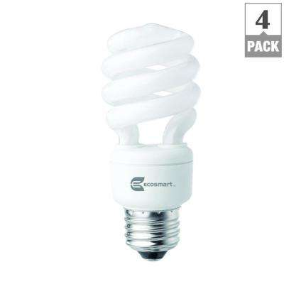 60-Watt Equivalent Spiral CFL Light Bulb, Soft White (4-Pack)
