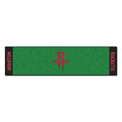 NBA Houston Rockets 1 ft. 6 in. x 6 ft. Indoor 1-Hole Golf Practice Putting Green
